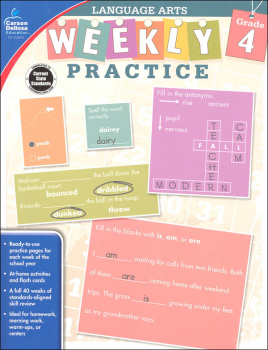 Language Arts Weekly Practice: Grade 4