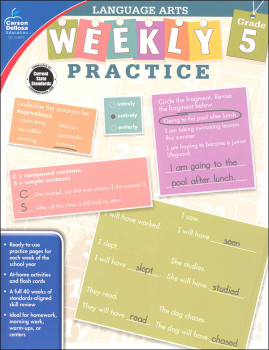 Language Arts Weekly Practice: Grade 5