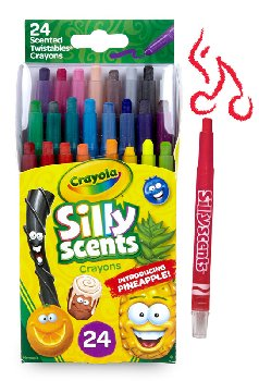 Crayola Silly Scents Mini Twistable Crayons - 24 count