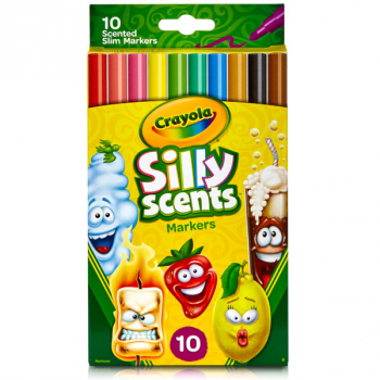 Crayola Silly Scents Slim Markers - 10 count