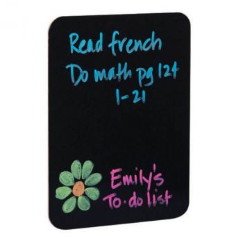 "Black Dry Erase Board 9"" x 12"""
