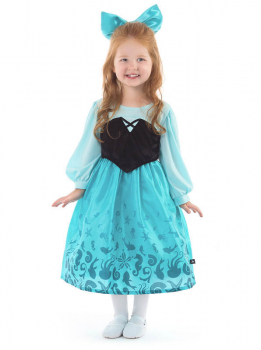 Mermaid Day Dress with Bow - Medium