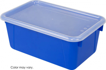 Cubby Bin Small with Cover - Blue