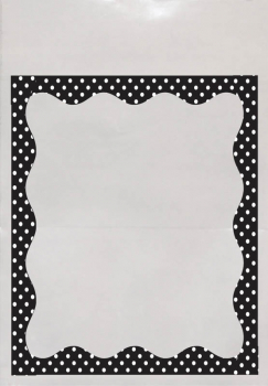 Black and White Dots Border Library Pockets - 25 Clearview Pockets