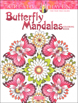 Butterfly Mandalas Coloring Book (Creative Haven)