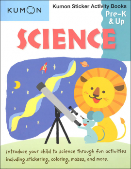 Science Kumon Sticker Activity Book Pre-K & Up