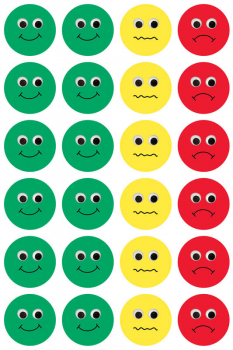 "Behavior Stickers pack/3 sheets (1"" diameter)"