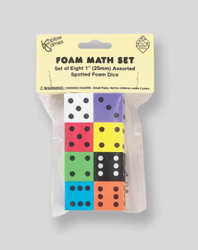 Foam Dice (25MM) Set of 8