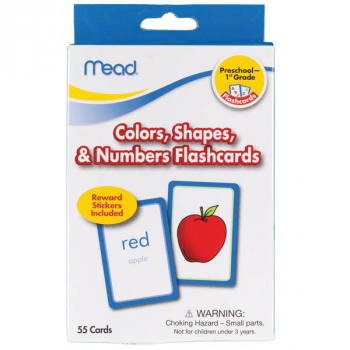 Mead Colors, Shapes and Numbers Flashcards Grades PK-1