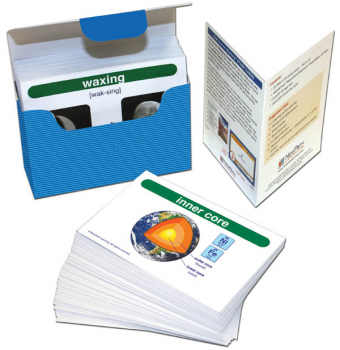 Earth Science Vocabulary Builder Flash Card Set - Middle School