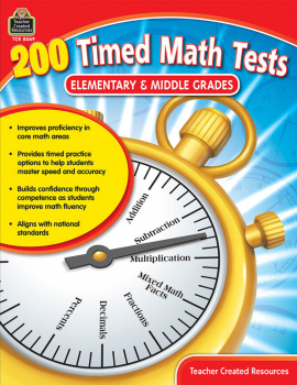 200 Timed Math Tests - Grades 1-8