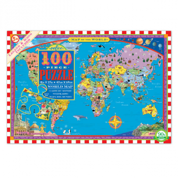 World Map Puzzle - 100 pieces