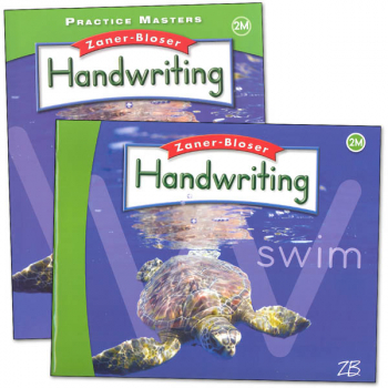 Zaner-Bloser Handwriting Grade 2M Homeschool Bundle-Student Edition/Practice Masters (2016 edition)