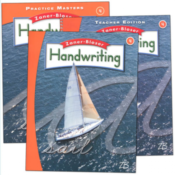 Zaner-Bloser Handwriting Grade 4 Homeschool Bundle-Student Edition/Teacher Edition/Practice Masters (2016 edition)