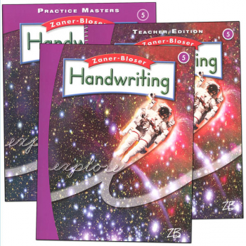 Zaner-Bloser Handwriting Grade 5 Homeschool Bundle-Student Edition/Teacher Edition/Practice Masters (2016 edition)