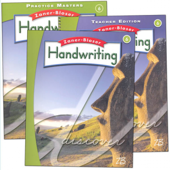 Zaner-Bloser Handwriting Grade 6 Homeschool Bundle-Student Edition/Teacher Edition/Practice Masters (2016 edition)