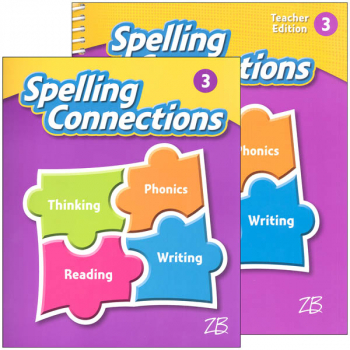 Zaner-Bloser Spelling Connections Grade 3 Homeschool Bundle (2016 edition)
