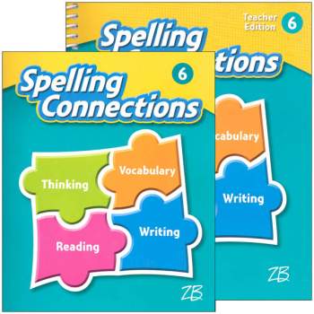 Zaner-Bloser Spelling Connections Grade 6 Homeschool Bundle (2016 edition)