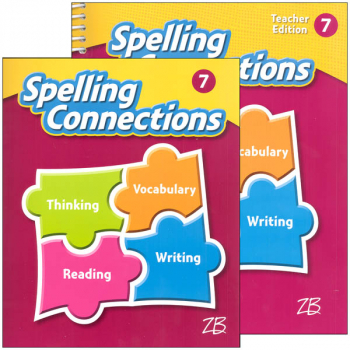Zaner-Bloser Spelling Connections Grade 7 Homeschool Bundle (2016 edition)