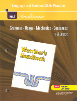 Holt Traditions Warriner's Handbook Language and Sentence Skills Practice First Course Grade 7 First Course
