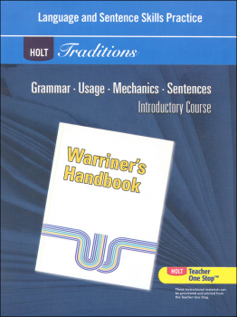 Holt Traditions Warriner's Handbook Language and Sentence Skills Practice Introductory Course Grade 6