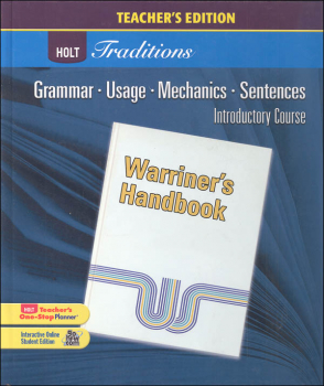 Holt Traditions Warriner's Handbook Teacher's Edition Introductory Course Grade 6 2008