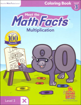 Meet the Math Facts Multiplication Coloring Book Level 3
