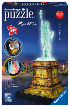 Statue of Liberty - Night Edition 3D Puzzle (108 piece)