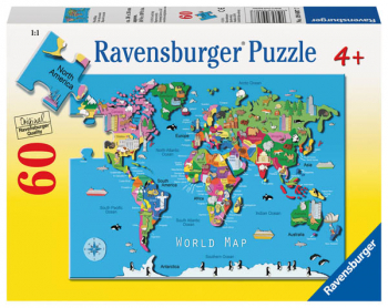 World Map Puzzle (60 pieces)