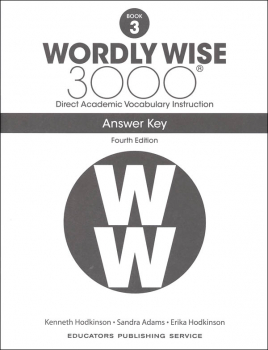 Wordly Wise 3000 4th Edition Key Book 3