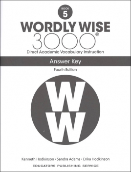 Wordly Wise 3000 4th Edition Key Book 5