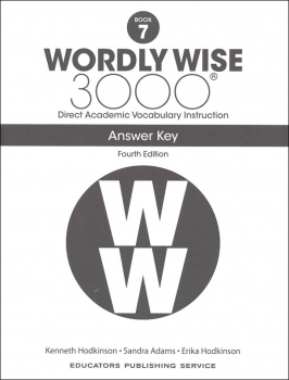 Wordly Wise 3000 4th Edition Key Book 7