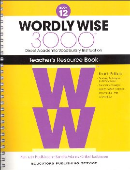 Wordly Wise 3000 4th Edition Teacher Resource Book 12