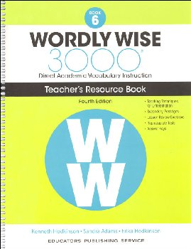Wordly Wise 3000 4th Edition Teacher Resource Book 6