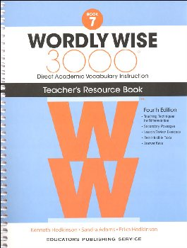 Wordly Wise 3000 4th Edition Teacher Resource Book 7