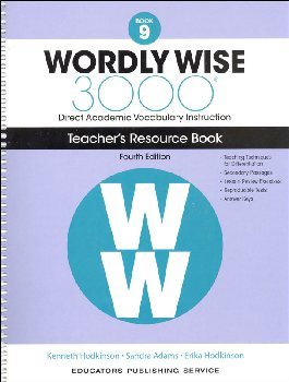 Wordly Wise 3000 4th Edition Teacher Resource Book 9
