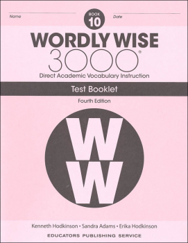 Wordly Wise 3000 4th Edition Test Book 10
