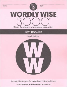 Wordly Wise 3000 4th Edition Test Book 2