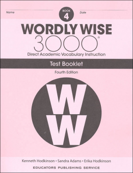 Wordly Wise 3000 4th Edition Test Book 4