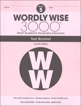 Wordly Wise 3000 4th Edition Test Book 5