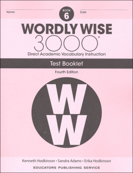 Wordly Wise 3000 4th Edition Test Book 6