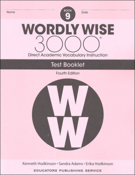 Wordly Wise 3000 4th Edition Test Book 9