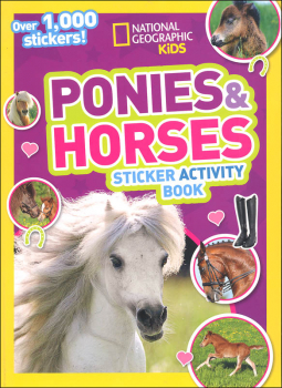 National Geographic Kids Ponies and Horses Sticker Activity Book