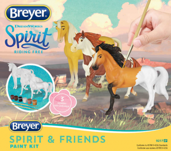 Breyer Deluxe Spirit and Friends Painting Kit - 3 Horses (Spirit Collection)
