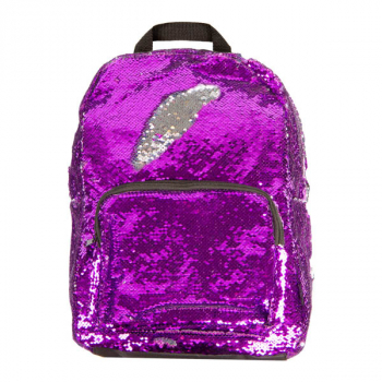 Purple / Silver Magic Sequin Backpack