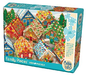 Gingerbread Houses Family Jigsaw Puzzle (350 piece)