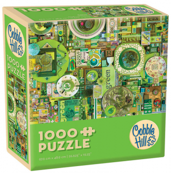 Green Collage Jigsaw Puzzle (1000 piece)
