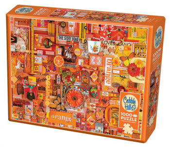 Orange Collage Jigsaw Puzzle (1000 piece)