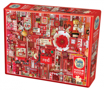 Red Collage Jigsaw Puzzle (1000 piece)