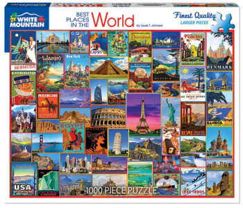 Best Places in the World Jigsaw Puzzle (1000 piece)